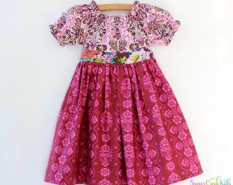 GRETCHEN Dress. Sizes  2T, 3/4T, 5/6T, 7/8y,