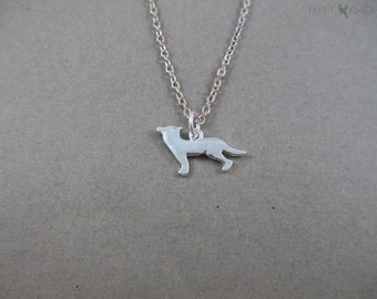 Wolf Charm Necklace - Silver