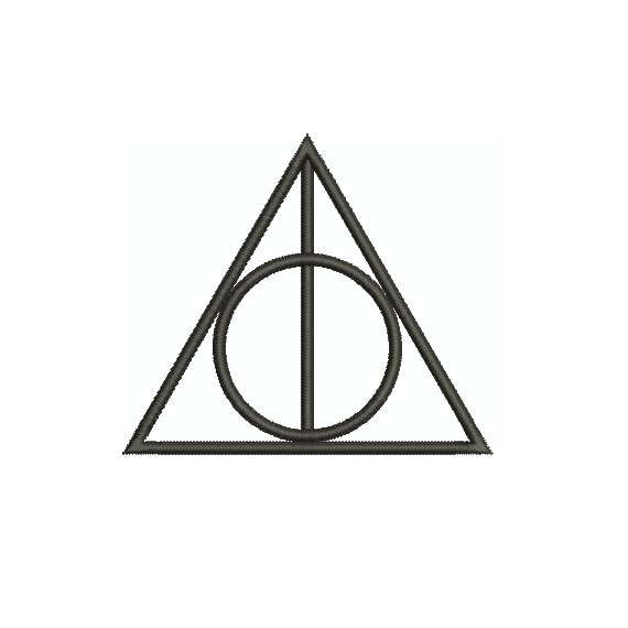 Machine embroidery design harry potter deathly hallows for Embroidery office design version 9