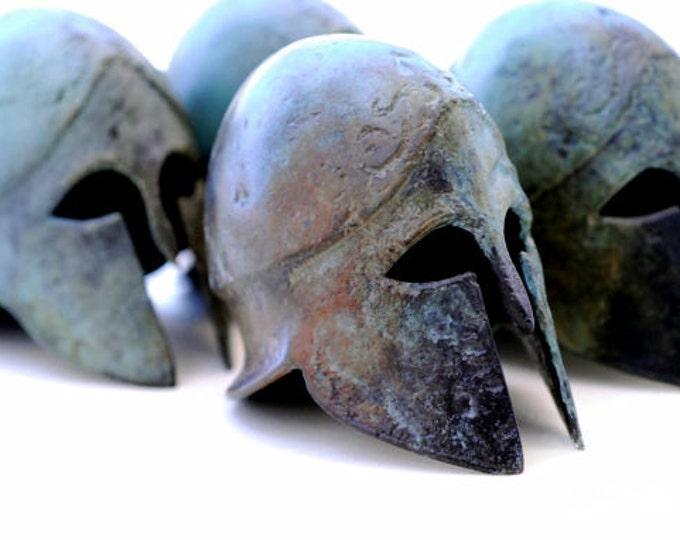 Featured listing image: Ancient Greek Corinthian Metal Bronze helmet