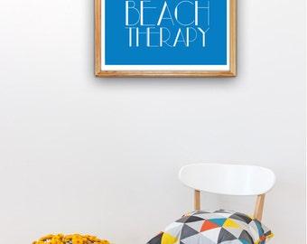 Beach Therapy Beach poster A3 plus sized Poster Decorative poster print Decor Nautical Decor Wall Art Beach House NTC021A3P