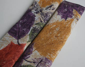 seatbelt covers car 1 pair Multicolored  leaves pattern