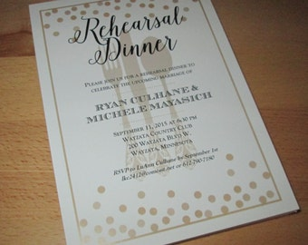 Golden Dots - Dinner Invitations