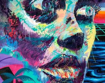 """Graffiti Art Photo, Street Art, Fine Art Photography, Wall Art Print, Modern Wall Decor,Fine Art Photography """"Face of Eve"""""""