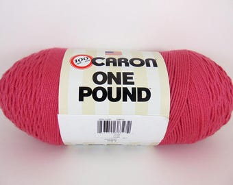 Rose - Caron One Pound Yarn 100% acrylic worsted weight - 1095