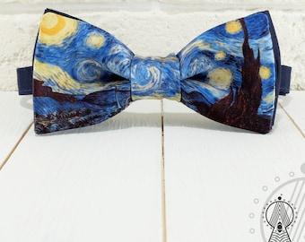 Bow Tie Dark Night, Bowtie, Creative bow tie, Blue bow ties, Bow tie Impressionen, Bow tie blue, Bowtie art