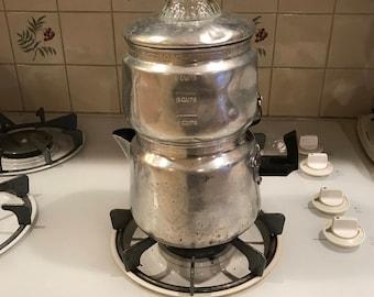 Vintage Aluminum Drip o lator Coffee Pot - 8 cups