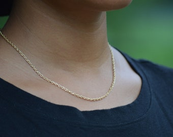 gold necklace, choker, choker necklace, layering necklace