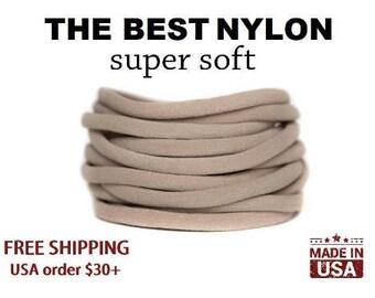Nylon Headbands, nylon headbands wholesale,  One Size Fits ALL, Skinny Nylon Headbands,  DIY Baby Headbands, Stretchy Baby Headbands bulk