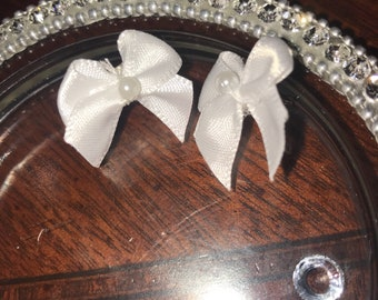 Bow ribbon earrings