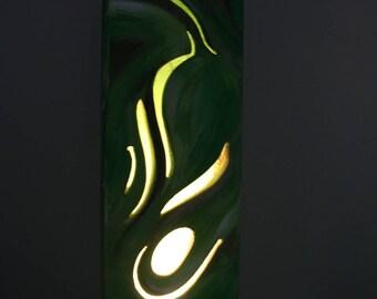 Luminaire végétal. Sculpture.