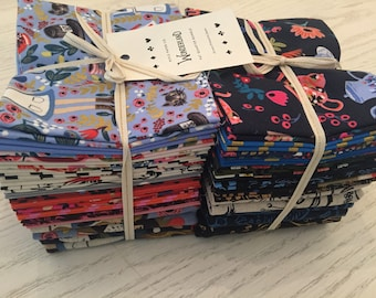 Wonderland Fat Quarter Set, Rifle Paper Company, Cotton and Steel