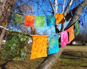 Tibetan-style Batik Prayer Flags with Fabric Marker