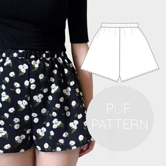 Womens high waisted shorts | PDF printable sewing pattern ...