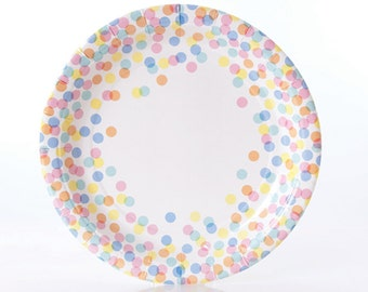 Plates | Confetti Dot Paper Plates | Multi-Colored Dots | Polka Dots | Quality Paper Plates | Party Supplies | The Party Darling  sc 1 st  Etsy Studio & 12 (4 ounce) Red Polka Dot Paper Ice Cream Cups Christmas Cups ...