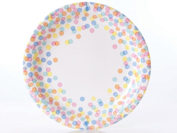 Plates | Confetti Dot Paper Plates | Multi-Colored Dots | Polka Dots | Quality Paper Plates | Party Supplies | The Party Darling from ThePartyDarlingShop on ...  sc 1 st  Etsy Studio & Plates | Confetti Dot Paper Plates | Multi-Colored Dots | Polka Dots ...