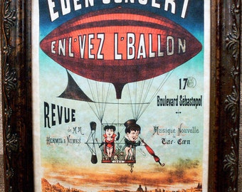 French Circus Poster from 1884 Art Print on Parchment Paper