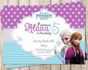 Frozen Party Invitation - Digital File 5x7 - PRINT IT YOURSELF