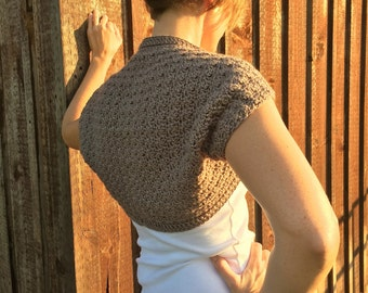 Crochet Brown Shrug