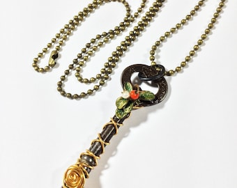 Steampunk Necklace Steampunk Key Jewelry - Free Domestic Shipping