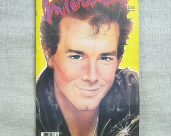 Interview Magazine 1985 Mickey Rourke Art and Entertainment Tabloid Andy Warhol Fashion Actor Actress - Ephemera Books and Such