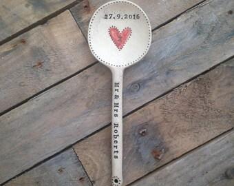Handmade personalised ceramic 'love' spoon
