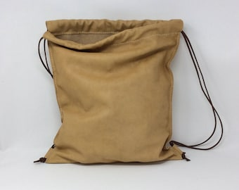 Handmade leather sack. Full grain. 100% handmade