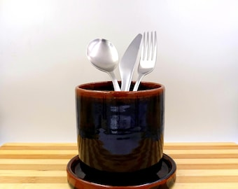 kitchen holder - Toothbrushes holder - Ceramic Utensil holder - ceramic cup- ceramic dryer