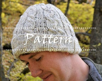 The Ashton Hat Knitting Pattern / Cable Knit Hat / Knit Hat Pattern / Knitted Hat
