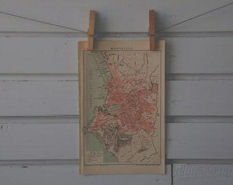 1894 Vintage Marseille Map