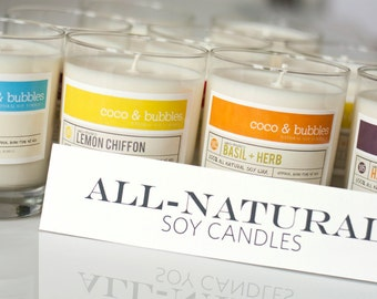 Soy Candles // PICK TWO 13 oz. candles. Eco-friendly candles made from all natural products that can even be reused.