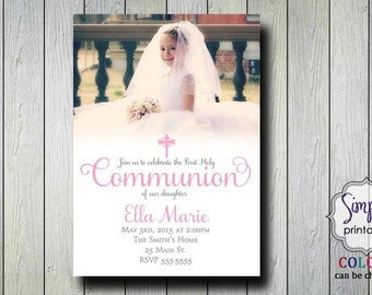 Baptism/Communion Invitation with Photo