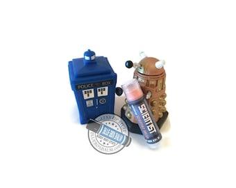 Scientist Dalek inspired Doctor Who Lip Balm - Orange Cream Flavored Geek Stix - Shimmer