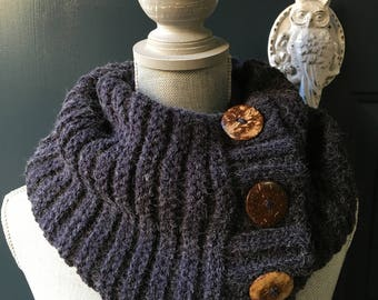 Women's Knit Infinity Scarf, Knit Scarf, Winter Scarf, Loop Scarf, Warm Scarf, Gift for her