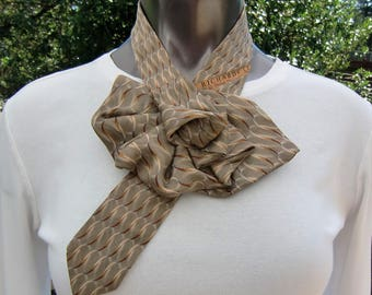 Ladies Necktie necklace, Woman's silk scarf, up-cycled Nordstrom J.Z. Richards silk tie, Ascot Scarflette, a fashion accessory gift for her