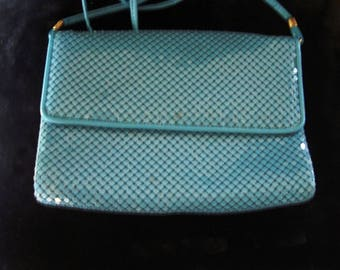 Modern Whitting/Davis Bright Turquoise Purse/Shoulder Strap Item #153 Purses