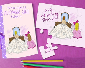 Flower Girl Proposal Puzzle, Will You Be My Flower Girl, Flower Girl Gift, Flower Girl Jigsaw, Flower Girl Invitation, Asking Flower Girl