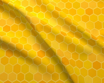 Honeycomb Fabric - Warm Honeycomb By Jayhutch - Warm Colors Honeycomb Yellow Orange Geometric Cotton Fabric By The Yard With Spoonflower