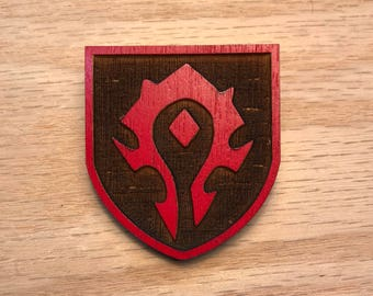 Horde wood pin