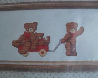 Bears in a Wagon to Cross Stitch Kit Dale Burdett Country Cross Stitch kit