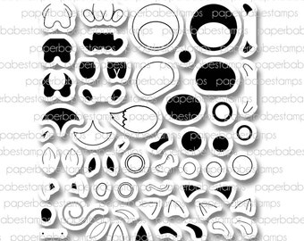 DesignA Adorimals - Paperbabe Stamps - Cute adorible kawaii Animals - Clear Photopolymer Stamps - For paper crafting and scrapbooking.