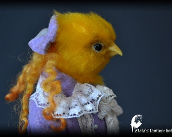 Chick Sofia D' Kokowill Anthro Art Doll, Victorian Art Doll, 1:6, Handmade doll, OOAK, interior doll