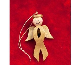 Childhood Cancer awareness handmade wooden ornament