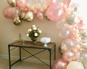 Rose Gold Party Etsy