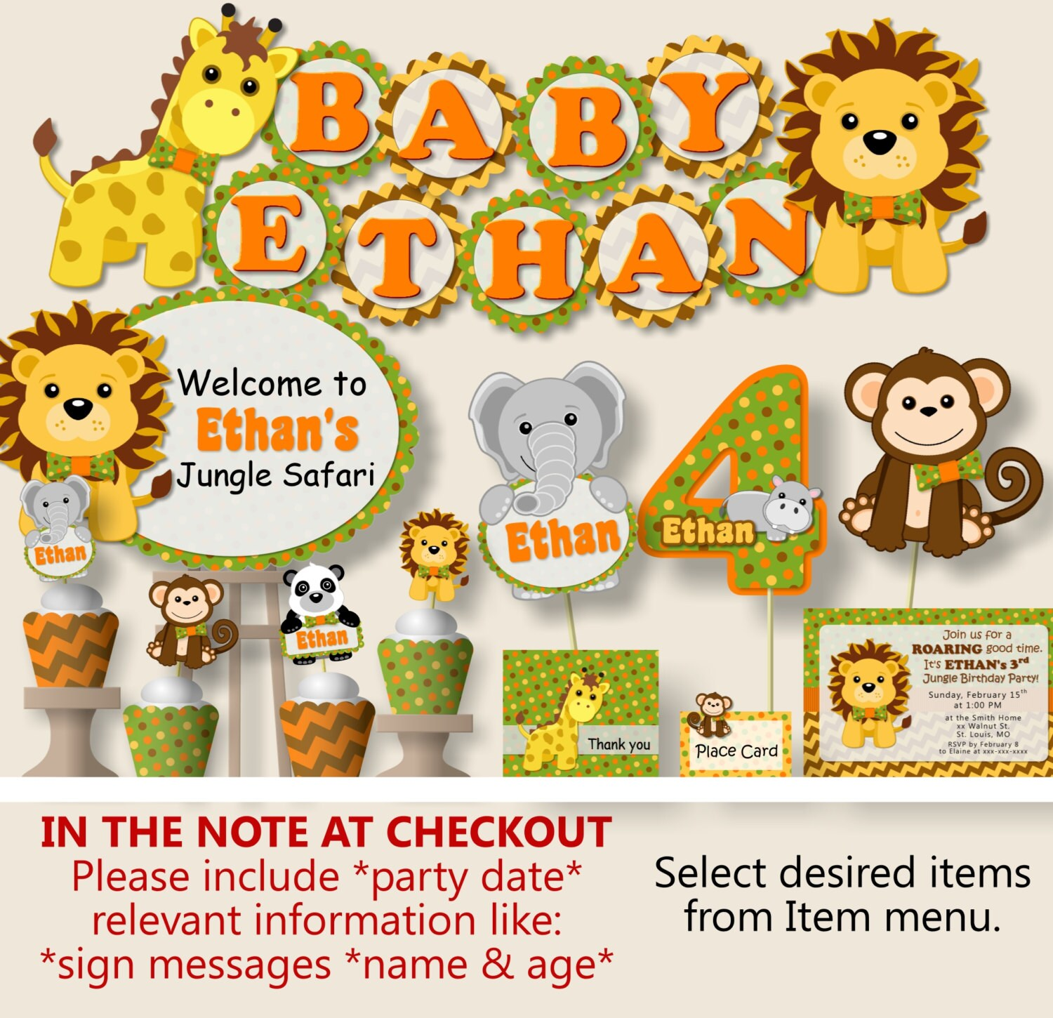 jungle pin along theme safari invitations with marvellous baby shower
