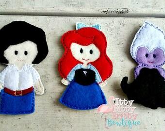 Little Mermaid inspired Finger puppets