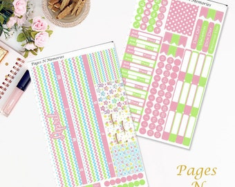 April Monthly Planner Sticker Kit for Erin Condren Life Planners/ Functional Stickers/ Monthly Sticker Set
