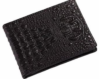 Men or women's crocodile pattern credit card holder