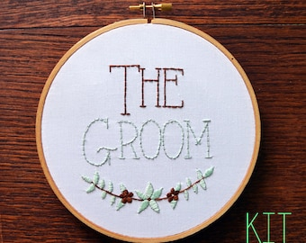 The Groom Wedding Sign Place Setting Kit