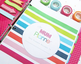 Home Management Household Binder, Printable Planner, Mum Planner Pages and Inserts, Homekeeping Binder, Budget Planner
